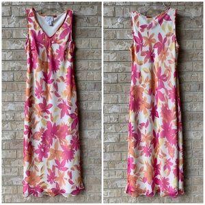 LOFT Floral Maxi Dress Size 2